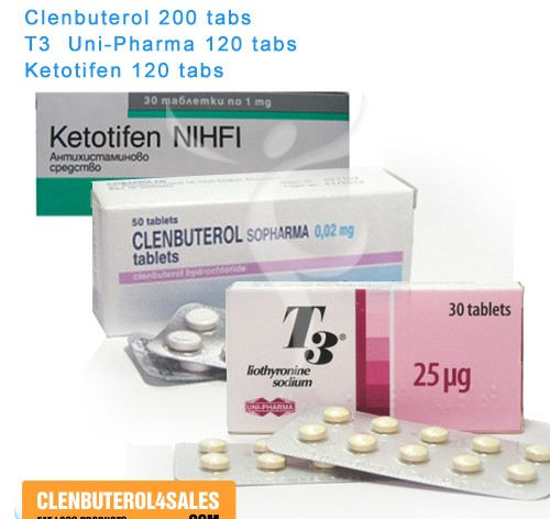 Clen 200 tabs & T3 120 tabs & Ketotifen 120 tabs